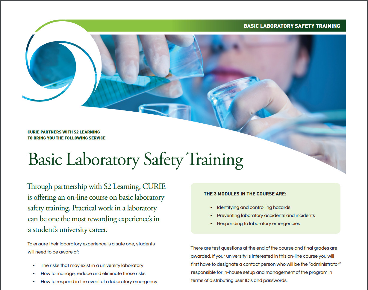 Laboratory Safety   CURIE